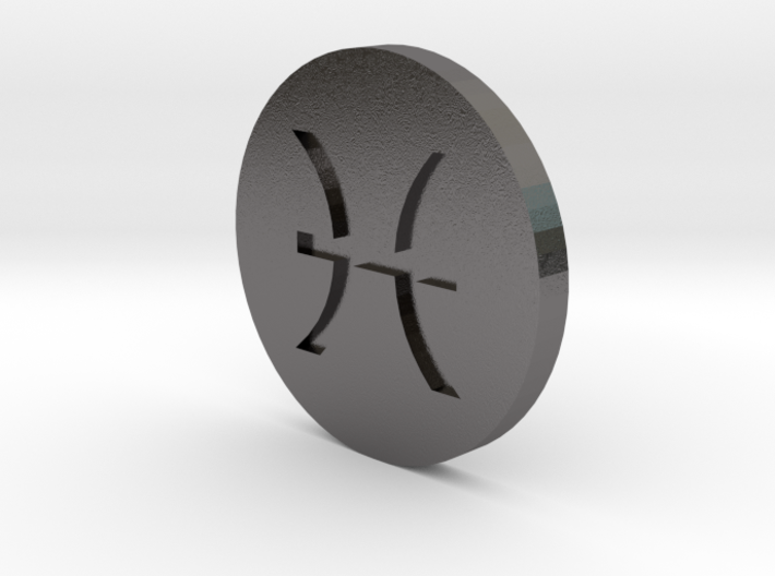 Pisces Coin 3d printed