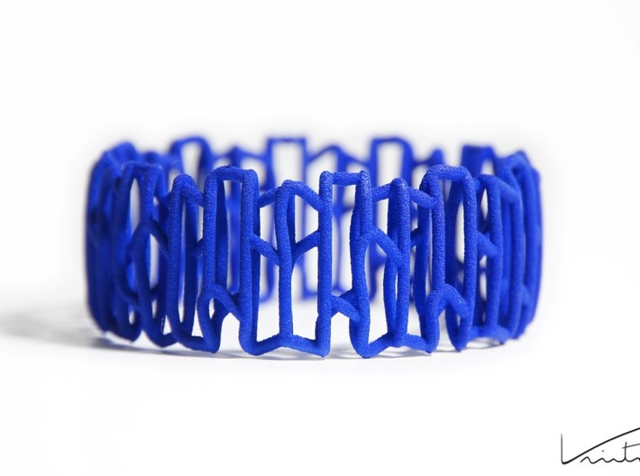 Modern patterned bracelet 3d printed