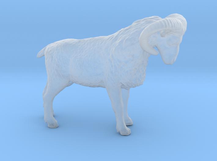 S Scale (1:64) Bighorn Sheep Ram 3d printed