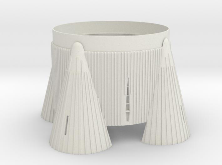 1:70 Scale Saturn V fin cannister/fins. Scale fin 3d printed