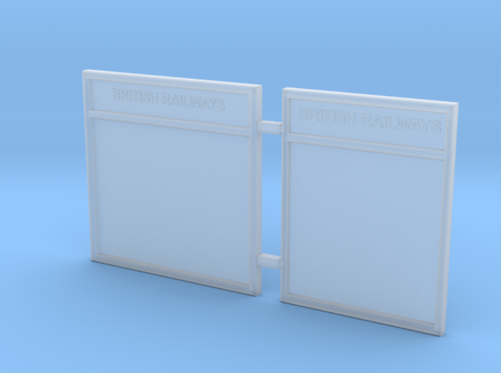 EP729 O gauge notice boards 3d printed