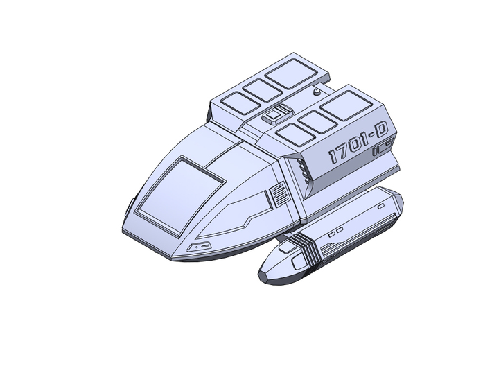 ST Type6 shuttle TNG 3d printed