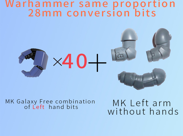 MK Galaxy Free combination of Left hand 3d printed