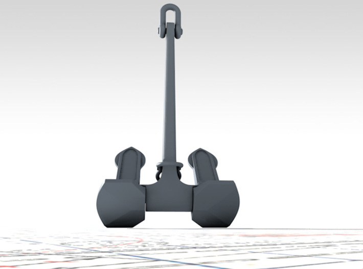 1/56 Wasteney Smith Stockless Anchor 128cwt 3d printed 3d render showing product detail