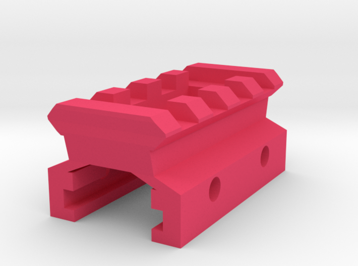 Nerf Rail to Picatinny Rail Adapter (4 Slots) 3d printed