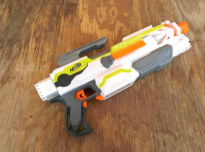 Nerf Receiver Picatinny Mount Adapter (Short) 3d printed