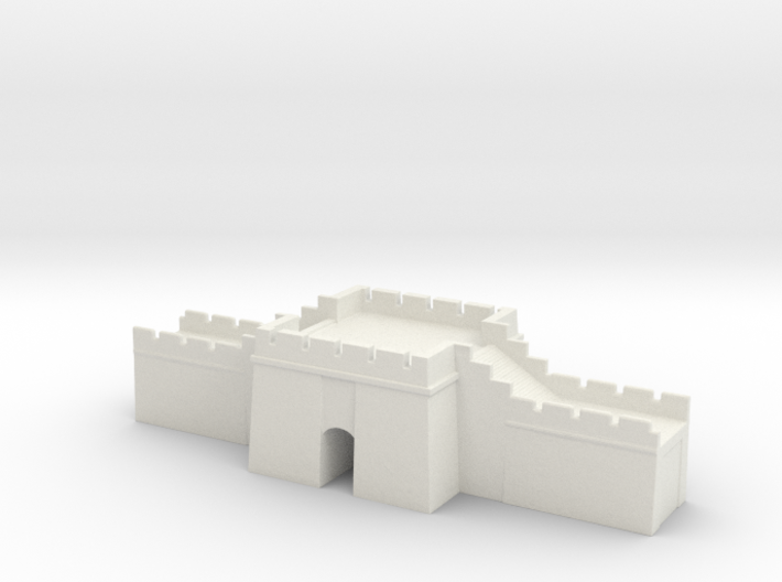 the grat wall of china 6mm 1/285 gate pass 3d printed