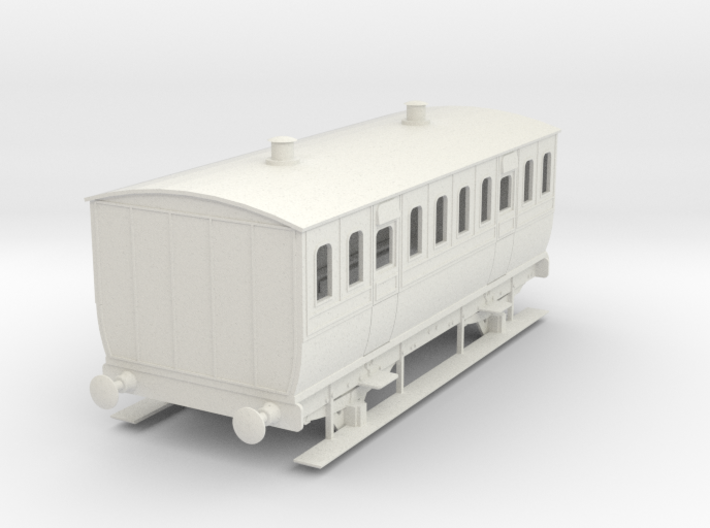 0-32-mgwr-4w-3rd-class-coach 3d printed