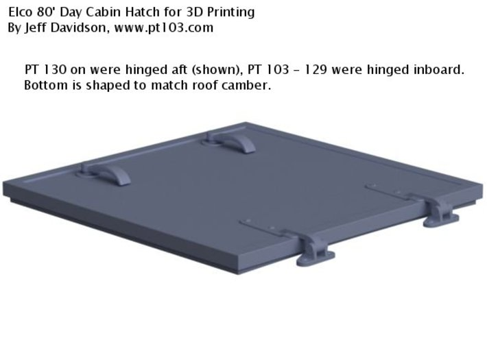 Elco 80' Day Cabin Hatch 20th, Side Hinged 3d printed