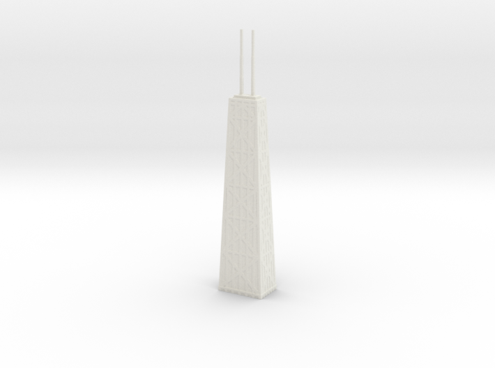 John Hancock Center - Chicago (6 inch) 3d printed