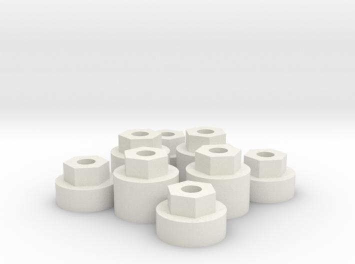 Micro RC wheel widener. 3d printed