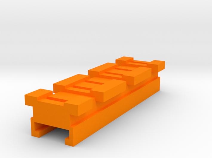 MicroShots Rail to Nerf Rail Adapter (3 Slots) 3d printed