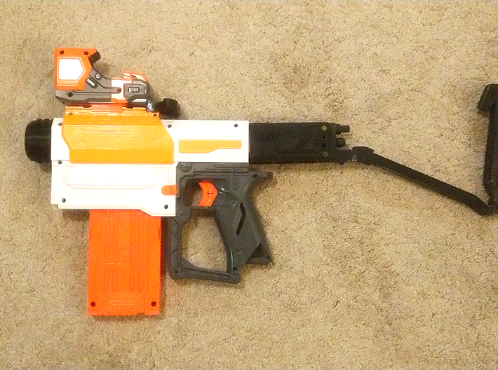 Nerf Receiver Picatinny Mount Adapter (Long) 3d printed