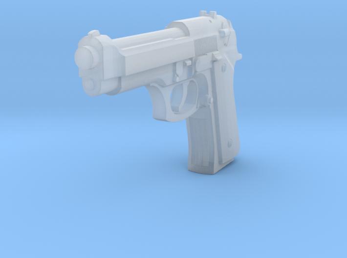 1:3 Miniature Beretta M9 Semi-Automatic Pistol 3d printed
