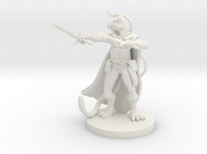 Tabaxi Two Sword Ranger 3d printed