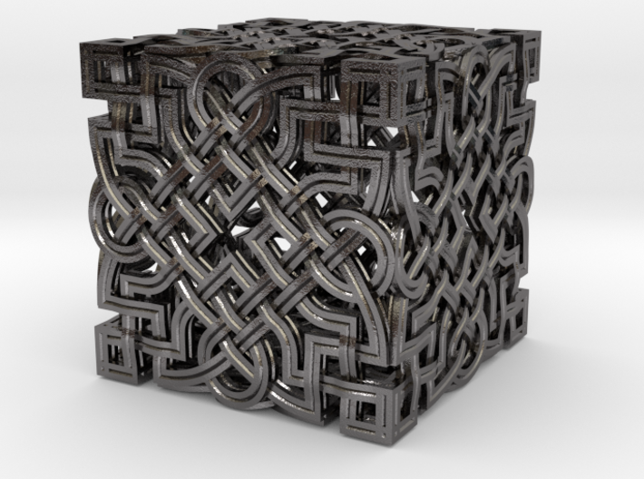 Infinity Knot - Six Face Cube 3d printed