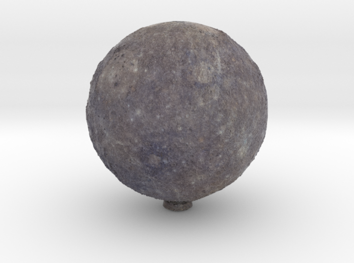 Mercury, with relief 1:80 million 3d printed