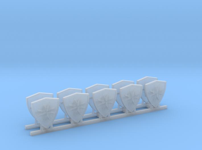 Black Templars Shield (5 pcs. left, 5 pcs. right) 3d printed