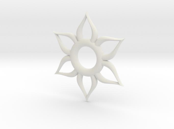 Sun Necklace 3d printed