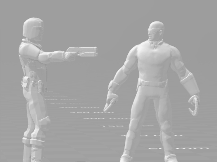 Judge Dredd 2012 1/60 miniature for games and rpg 3d printed