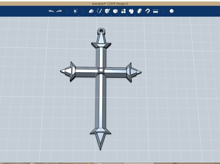 Medieval Style Cross Pendant Charm 3d printed