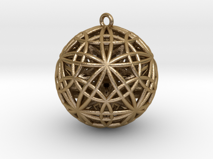 "Sphere of Sacred Union Pendant 2""  3d printed"