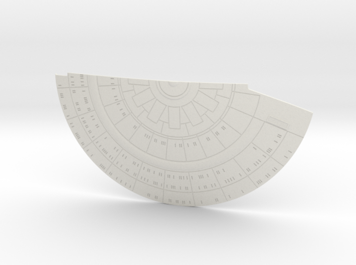1/1400 USS Ambassador proposal Right Lower Saucer 3d printed