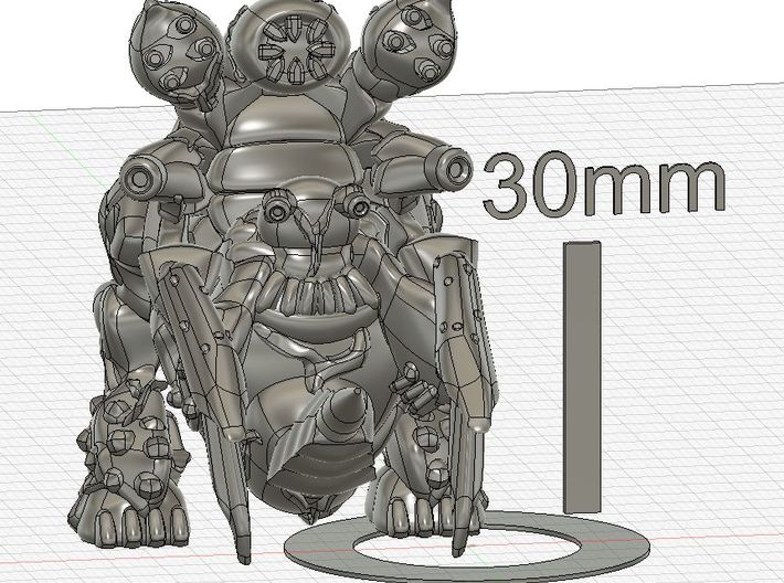 Bio monster Large size 3d printed