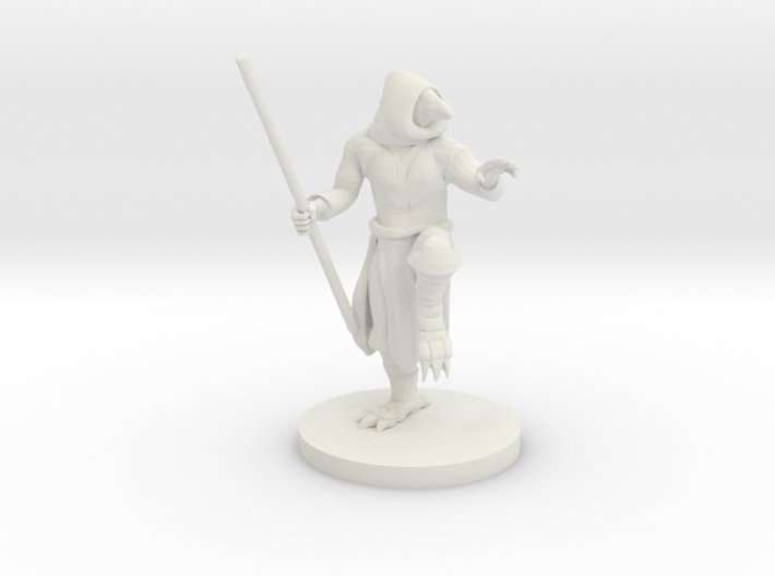 Kenku Monk with Staff 3d printed