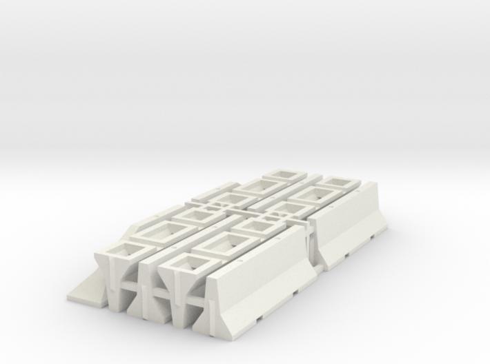 1/87 H0 Betonschutzwand (Jersey Profil) 8+2 3d printed