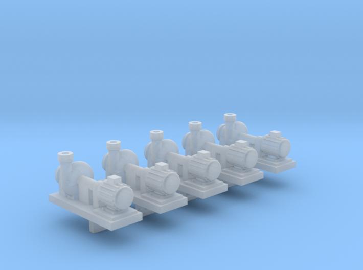 Zentrifugalpumpe neuere Bauart 5erSet - TT 1:120 3d printed