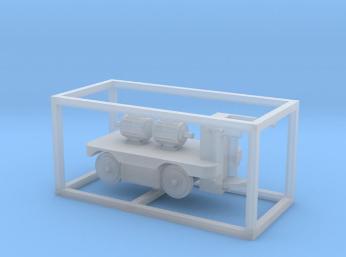 E-Karren Flachwagen 2x E-Motoren A - 1:120 TT 3d printed