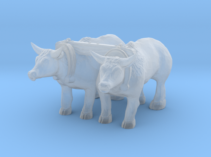 TT Scale Oxen 3d printed This is a render not a picture