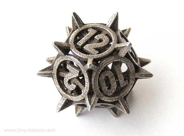 'Center Arc' dice, D12 balanced gaming die 3d printed
