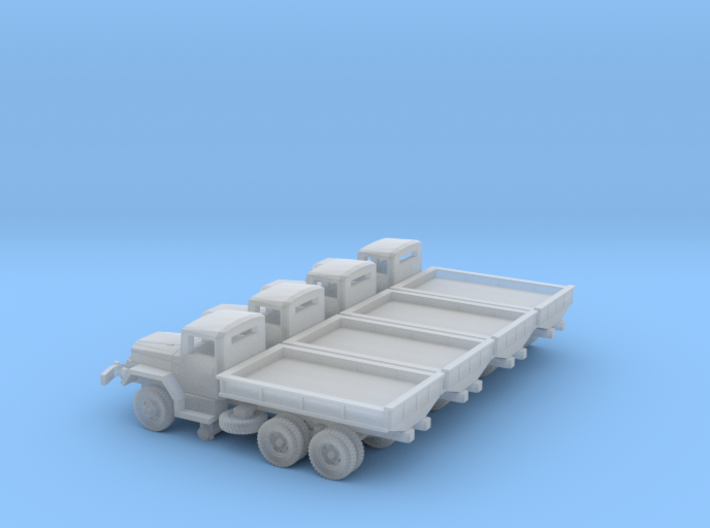 4 X 1/200 M35 2.5 ton Cargo Truck Open Bed 3d printed