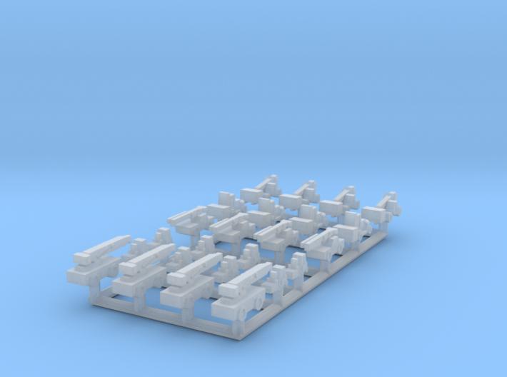 1/1250 Forklifts & Cranes (FUD) 3d printed