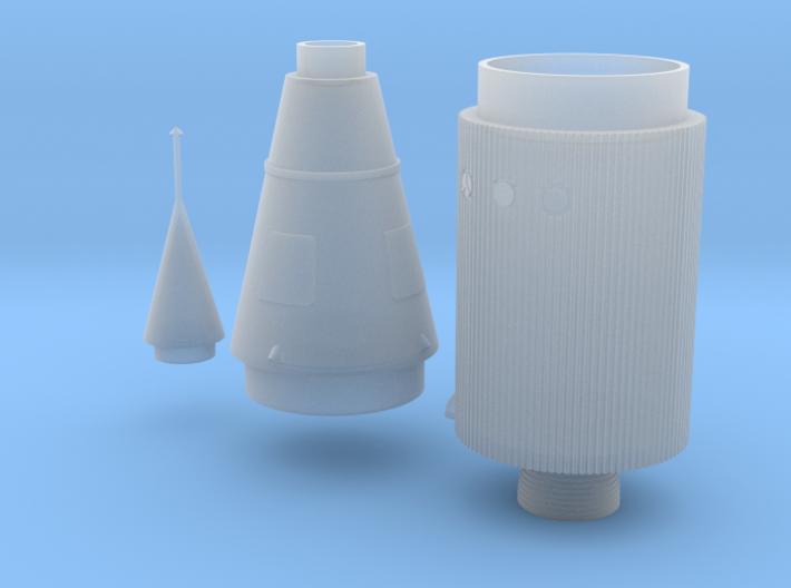 Juno II Rocket Parts 1:72 Stringers 3d printed