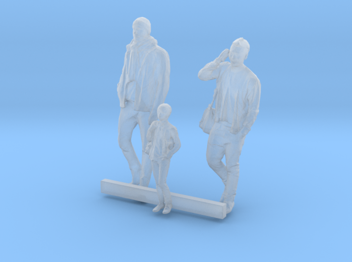 S Scale Men and Boy 3 3d printed This is a render not a picture