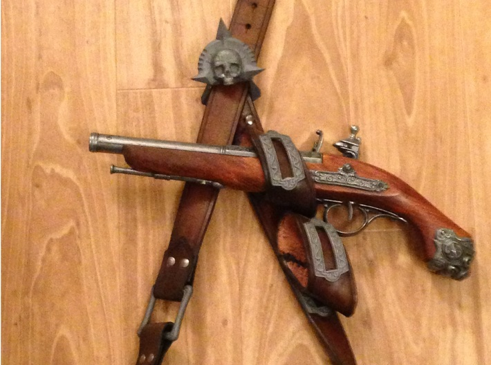 Pirate Baldric Set 3d printed After Finishing Possible look
