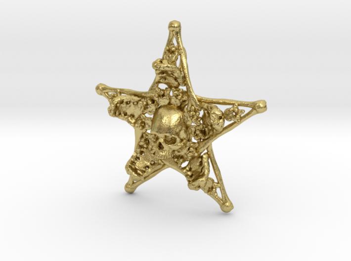 Mystical Pentagram Bone Pendant 3d printed