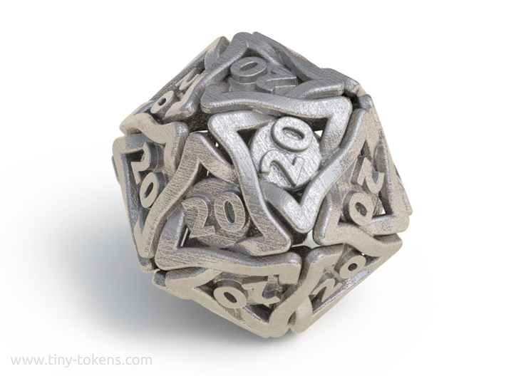 Twined All 20's version - Novelty D20 gaming dice 3d printed