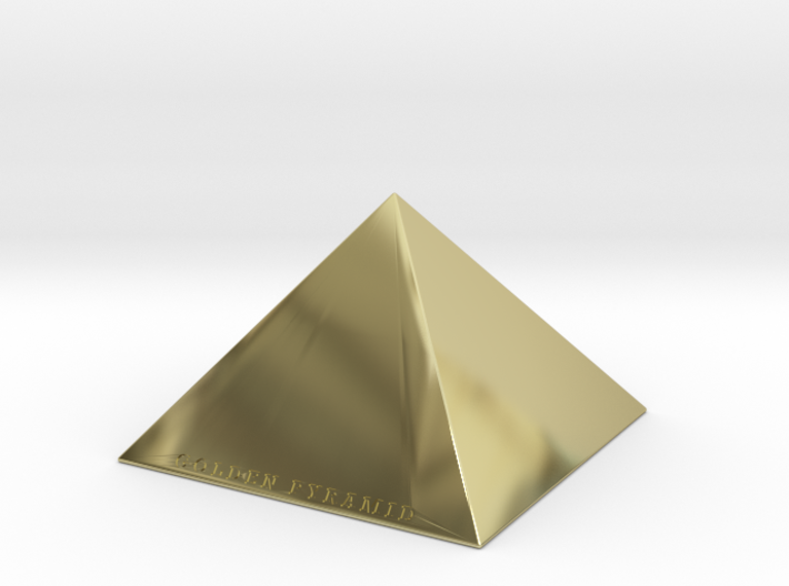 Golden Pyramid 3d printed