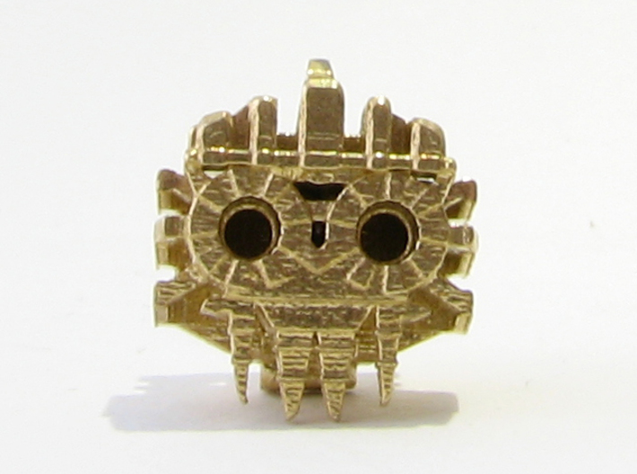 Aztec Bead Tlaloc SA 3d printed Tlaloc Face on