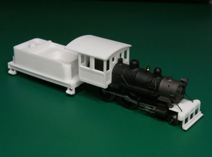 Parts for 4-4-0 conversion (cab,pilot,tender) A 3d printed The white parts are what you get