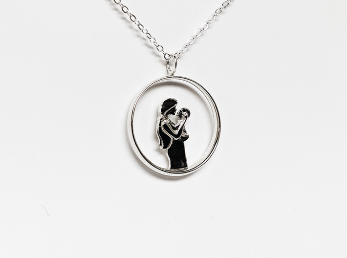Mother & Infant Pendant -Motherhood Collection 3d printed