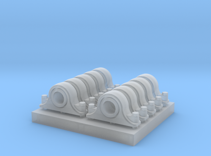 Pillow Blocks 3 inch 1:20.3 Scale 3d printed