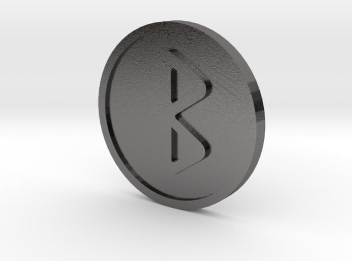Berkanan Coin (Elder Futhark) 3d printed