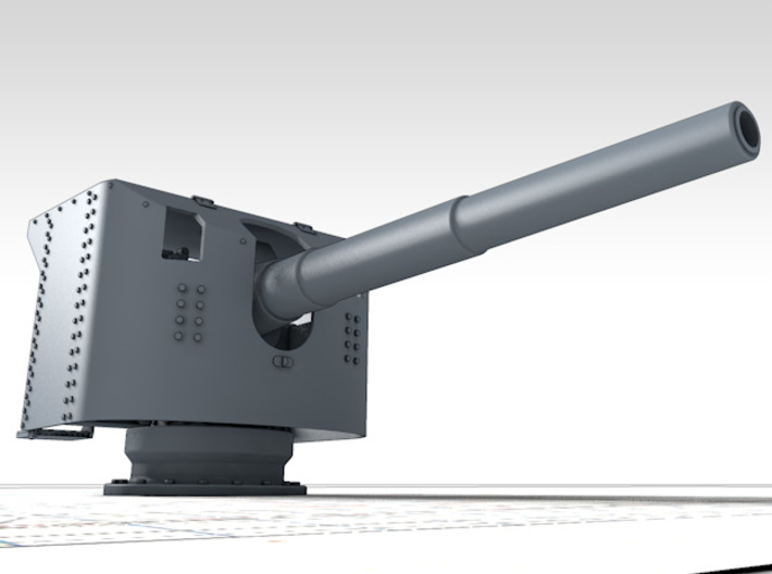 1/192 German 15 cm/45 SK L/45 Gun w. Shield x4 3d printed 3d render showing product detail