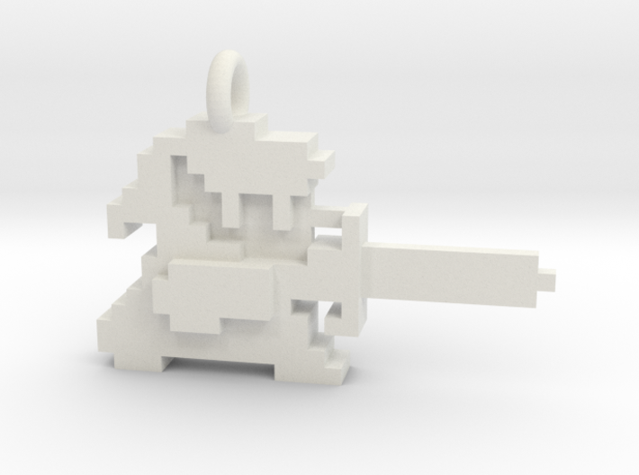Zelda Link 8 bit Pendant necklace all materials 3d printed