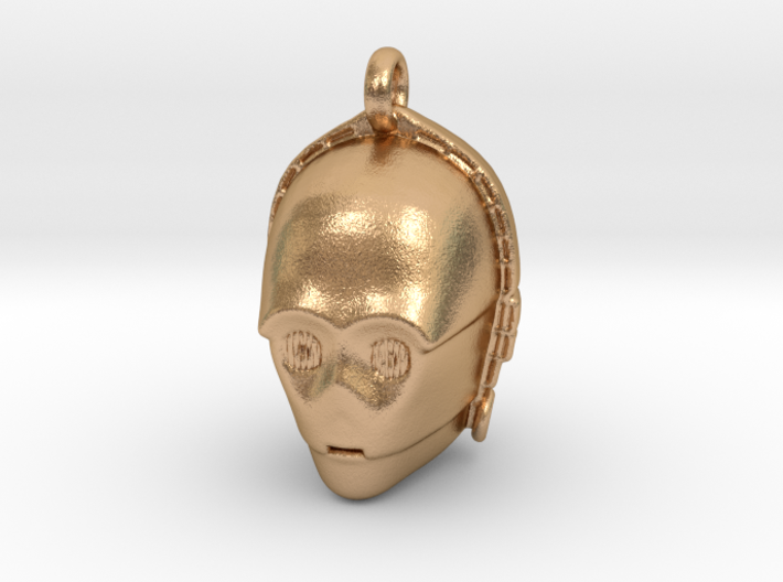 Star wars C3PO Pendant necklace all materials 3d printed